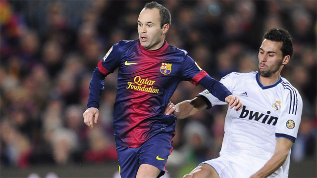 While Messi will be relied on to create goals for Barcelona, Andres Iniesta controls the Spanish side's midfield, where the La Liga leaders dominate.  Iniesta and company face a stiff test in Bayern Munich, who boast an equally talented midfield. (AP/Manu Fernandez)