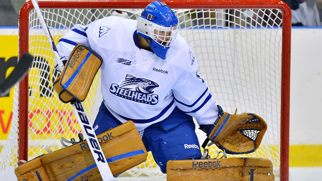 Spencer Martin of the Mississauga Steelheads. (Terry Wilson/OHL Images)