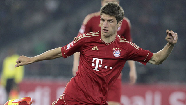 Bayern Munich's leading scorer in the Champions League, Thomas Muller, will create the most problems for Barcelona. The German national's versatility and ability to both create and score goals will be a nightmare for Barca's banged up defence. (AP/Gurinder Osan)