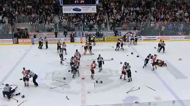 QMJHL: Aftermath Of The Brawl Near Montreal