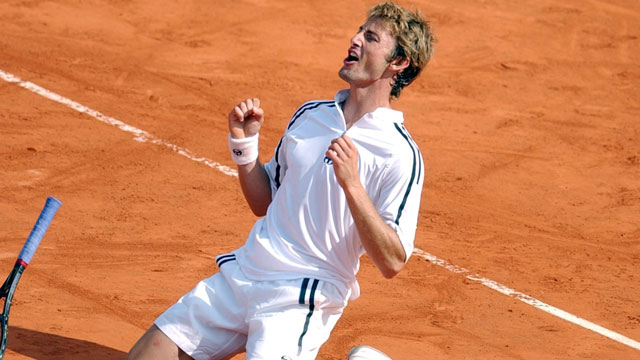 Juan Carlos Ferrero had very little trouble with the Netherlands' Martin Verkerk in the 2003 final, the Spaniard crushing him with a relatively uncontested straight-set victory. (AP/Francois Mori)