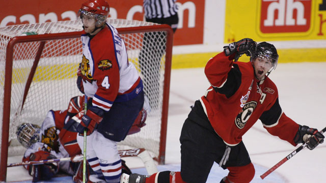 The Moncton Wildcats made it to the final as the hosts in 2006, but were over-matched by fellow QMJHL entrants the Quebec Remparts. (CP/Andrew Vaughan)