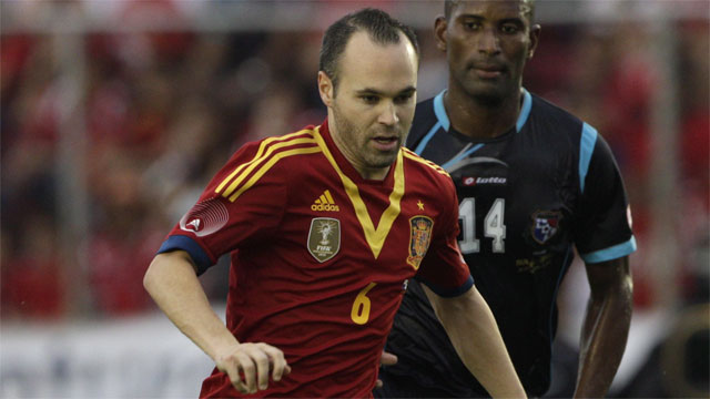Barcelona's Andres Iniesta is still one of the elite playmaking midfielders in the world and is a key engine on a Spain team that after three straight, top-flight tournament victories, still has yet to be pushed off the top of the proverbial mountain. (AP/Arnulfo Franco)