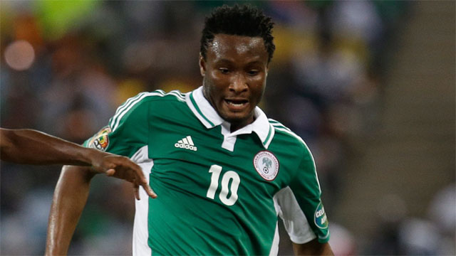 John Obi Mikel is Nigeria's most distinguished player (162 matches for Chelsea in the Premier League) and incredibly is only 26 years of age. Mikel is relied far more for offence for country than club, but he is still one of the world's best defensive midfielders.  (AP/Armando Franca)