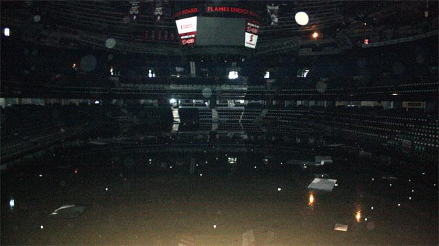 Flames Saddledome Ruined Below Row Eight Sportsnet Ca
