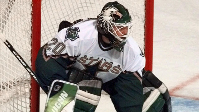Ed Belfour's 1997 signing with the Dallas Stars made that club an instant cup contender. The team won the President's Trophy in his first year between the Dallas pipes, and then went on to win it all two years later. (AP/Bill Janscha)