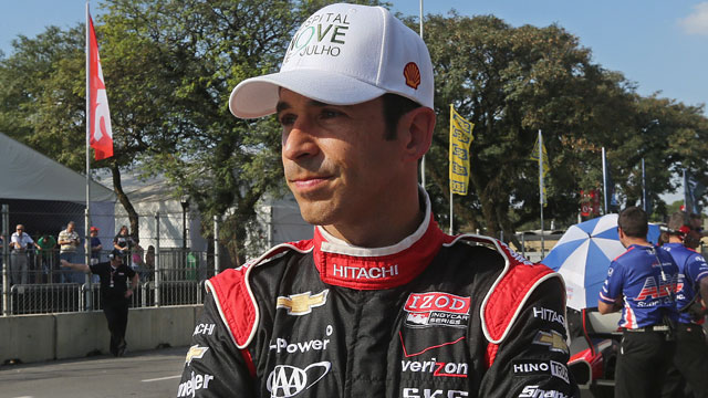Penske Racing's Helio Castroneves of Brazil (AP/Andre Penner)
