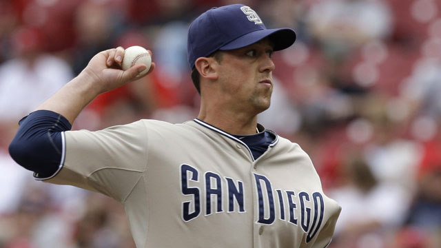Luke Gregerson is inexpensive with expiring arbitration eligibility, the veteran reliever with a nasty slider looks likely to leave the Padres (AP/Al Behrman)
