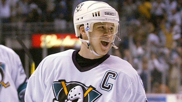 Paul Kariya was the first face of the Anaheim Mighty Ducks, and appeared as himself in the Mighty Ducks movies that helped spawn the club (AP/Mark J. Terrill)