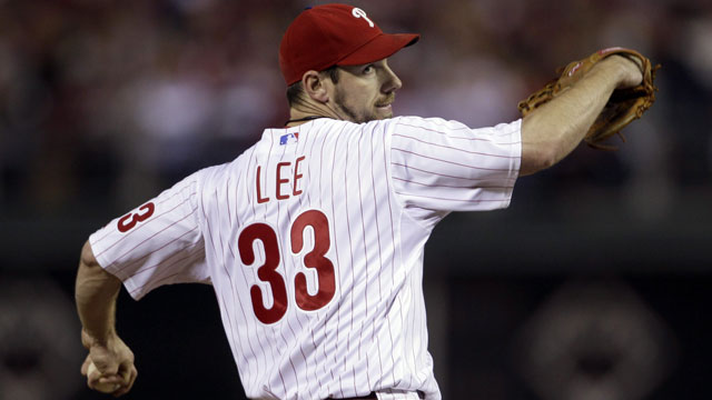 With his health, and the willingness of the Phillies to move him, veteran left-handed starter Cliff Lee is still a man that teams are after (AP/Matt Slocum)
