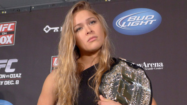 UFC women's bantamweight champion Ronda Rousey announced that she will appear in the Silvester Stalone action sequel The Expendables 2 (CP/Neil Davidson)
