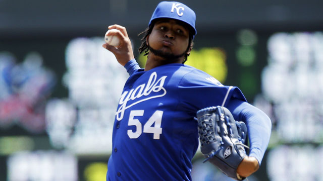 Ervin Santana looks like an alternative target for teams that fail to land Peavy, but the Royals are looking for major-league ready talent to pull the trigger on any deal for him (AP/Jim Mone)