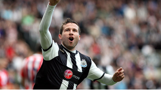 In the last 25 years so, the trend was for French players to leave France to go to England and play. Although midfielder Yohan Cabaye already did that, departing Lille for Newcastle United in the summer of 2011, he may soon be in for a return trip to his homeland. The sublime ball distributor and free kick specialist has been heavily targeted by Paris Saint-Germain all summer and that trend continues, even while Tottenham has also made their interest in the France international known. As the season dawns, he remains the captain of the Magpies, yet for how much longer is a burning question around England's extreme northeast. One thing is for certain: When Cabaye is in the lineup, Newcastle is a much better club. (AP/Scott Heppell)