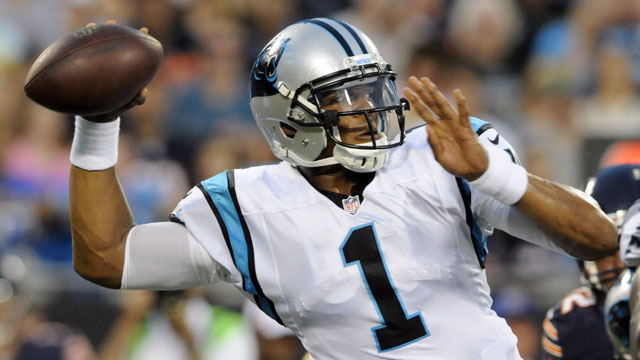 Cam Newton, the quarterback of the Carolina Panthers, averaged 20.22 fantasy points-per-game (AP/Mike McCarn)