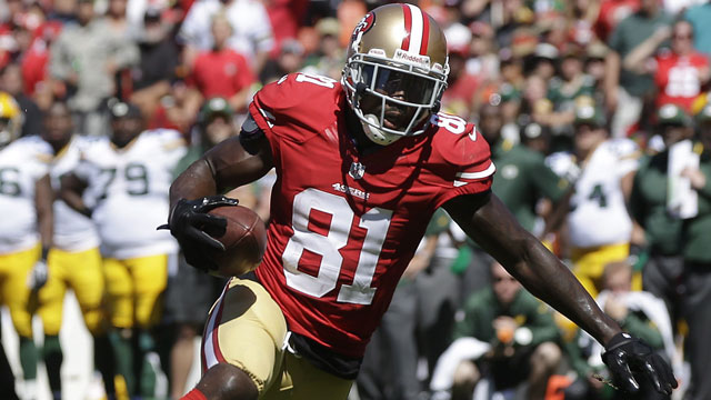 Anquan Boldin caught 13 passes for 208 yards and a touchdown in the San Francisco 49ers win over the Green Bay Packers (AP/Marcio Jose Sanchez)
