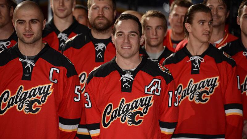 official photos f3789 ce0cb Flames unveil new third sweater at fan event - Sportsnet.ca