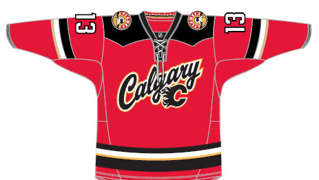 Calgary Flames new jersey also has a new shoulder patch. Interesting.  pic.twitter.com obNzbgf4M5 931cde299