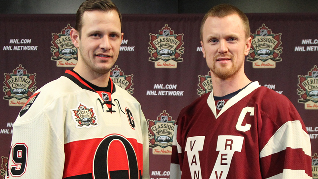 detailed look 8f47a bf233 Canucks, Sens unveil Heritage Classic sweaters - Sportsnet.ca