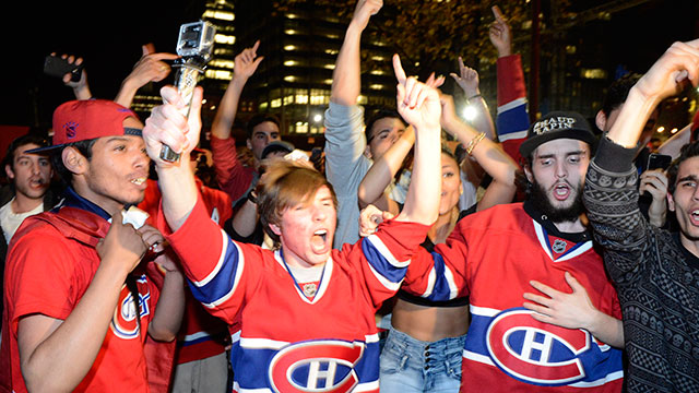 best service db7ba f7b13 Habs fans pour into streets to celebrate - Sportsnet.ca