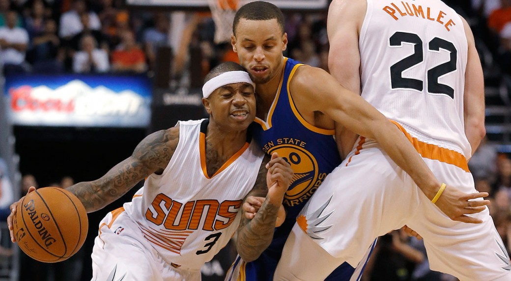 on sale 9ad93 3217c Thomas, Suns rally to hand Warriors first loss - Sportsnet.ca