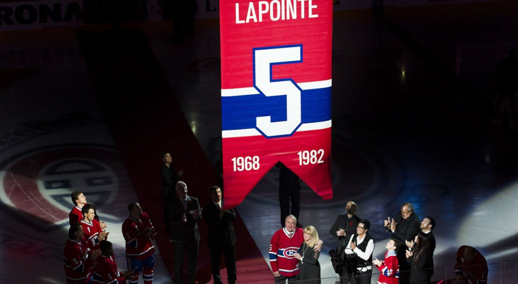 promo code ebc48 2a7c0 Canadiens raise Lapointe's jersey to rafters - Sportsnet.ca