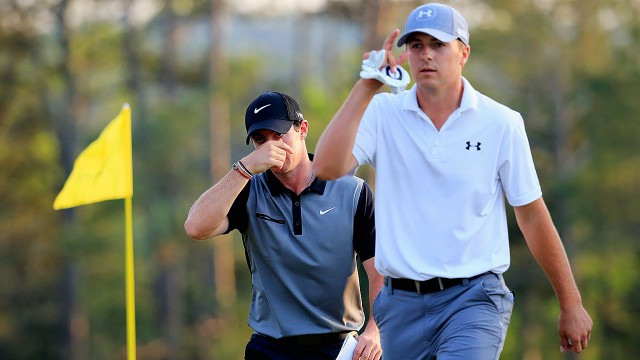 The-Masters;-Rory-McIlroy;-Jordan-Spieth,-Tiger-Woods