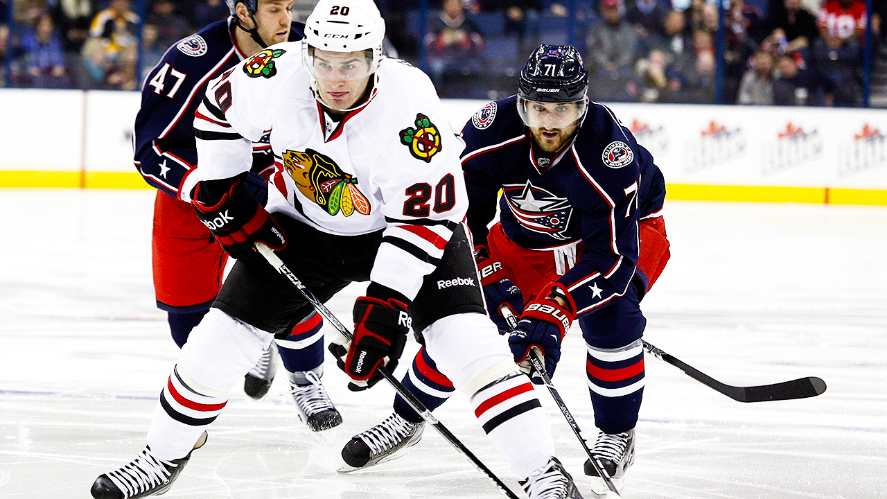 Nick-Foligno;-Brandon-Saad;-Columbus-Blue-Jackets
