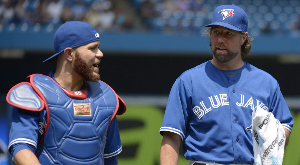 R.A.-Dickey,-Russell-Martin