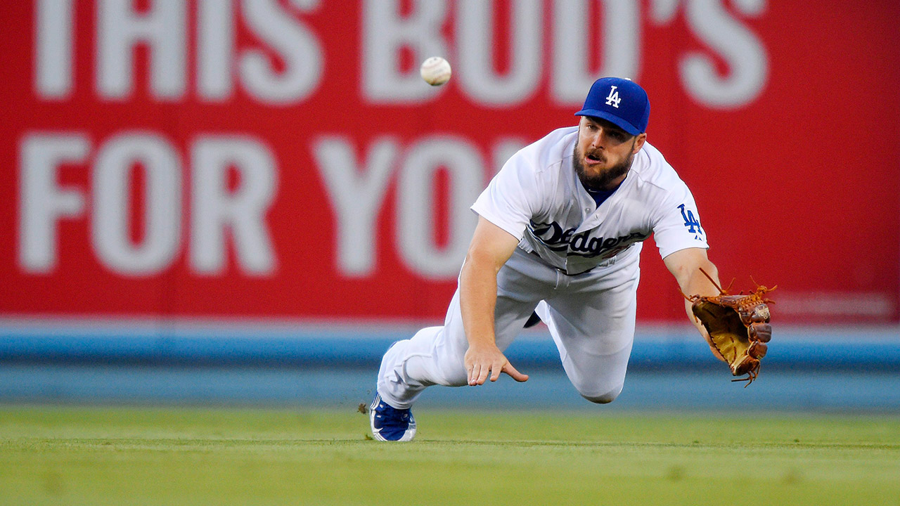 Chris-Heisey;-Toronto-Blue-Jays;-Los-Angeles-Dodgers;-MLB