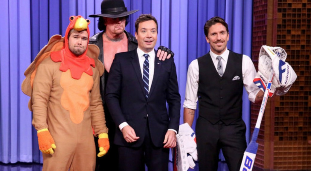 Gotta See It Lundqvist Undertaker Perform Stunts On Fallon