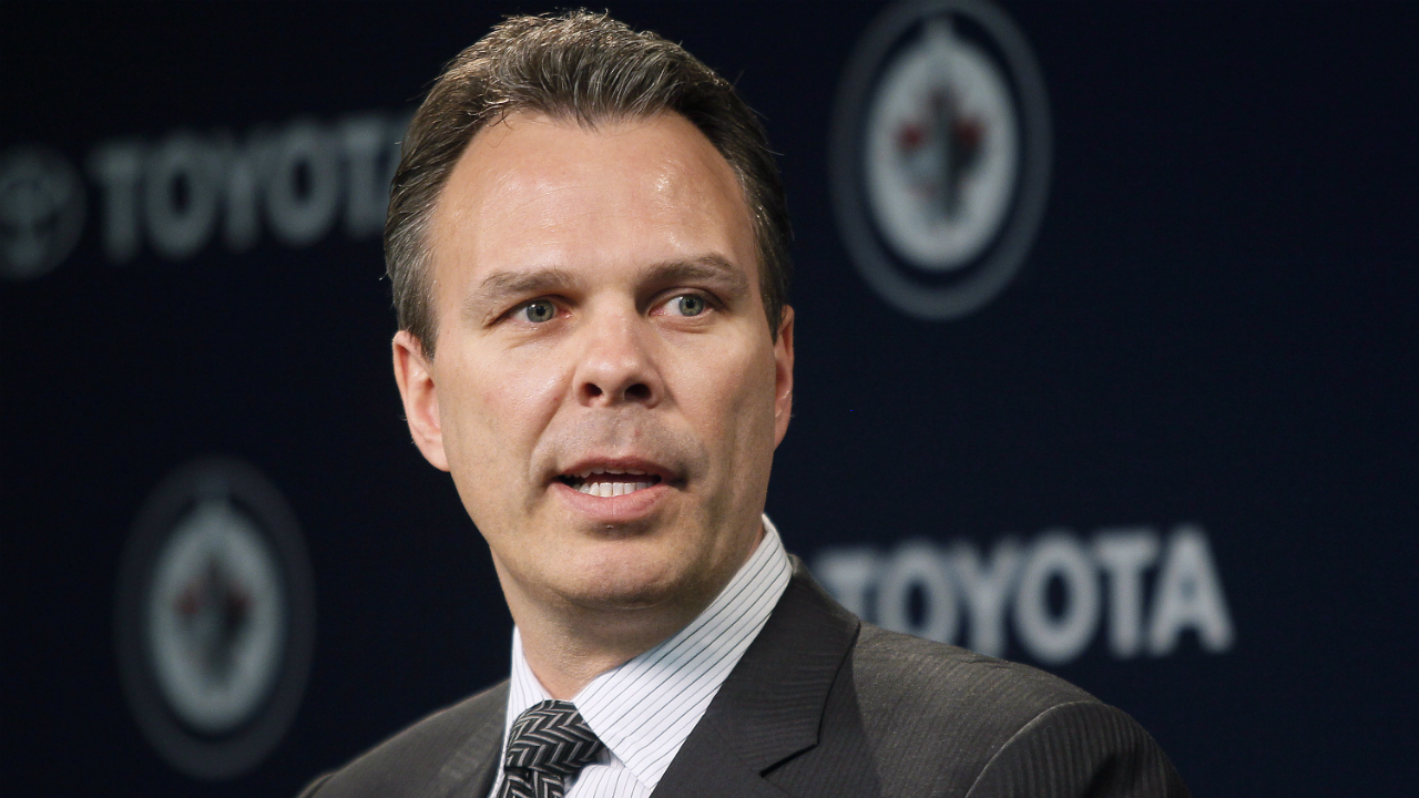 Winnpeg-Jets-general-manager-Kevin-Cheveldayoff-talks-to-media-in-Winnipeg-on-Tuesday,-April-10,-2012.THE-CANADIAN-PRESS/John-Woods