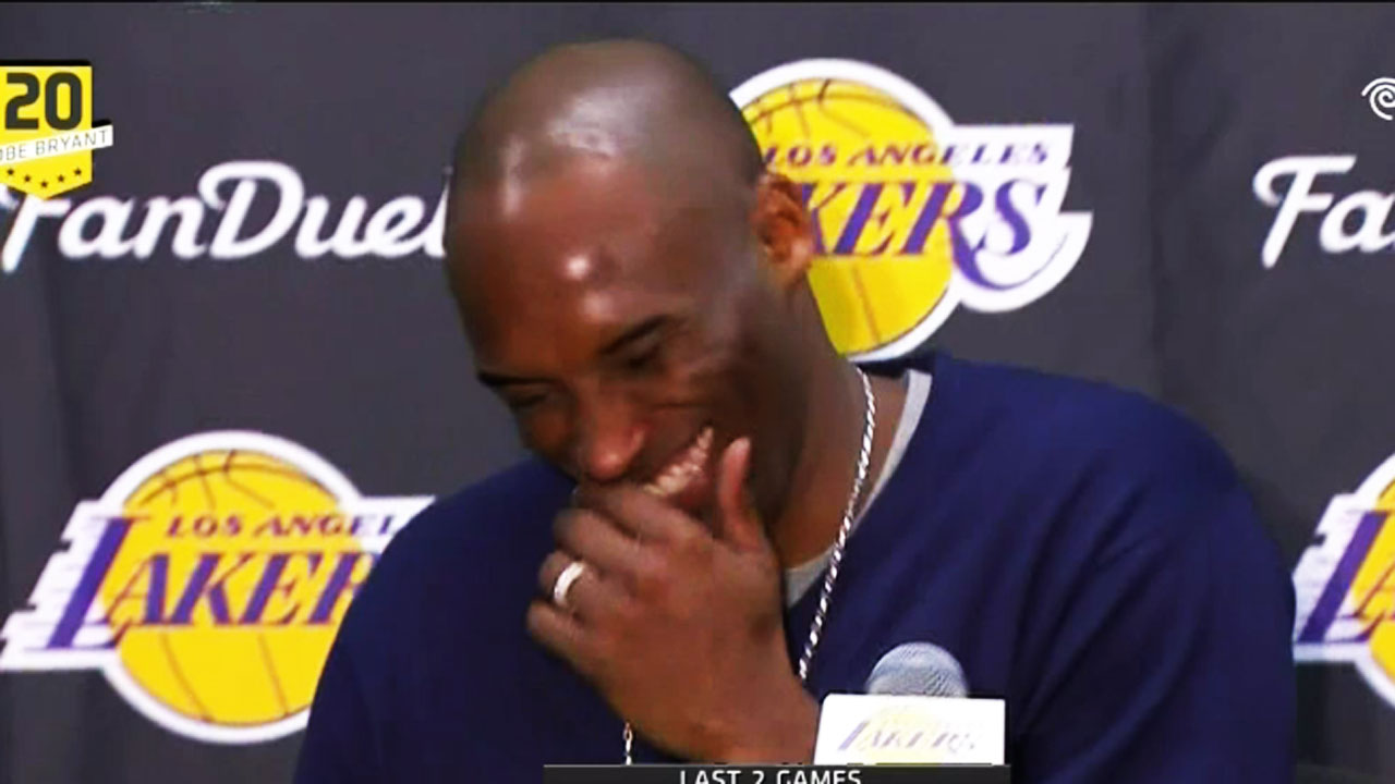 Gotta See It Kobe Laughs Off Mitchell S Hatred For Him