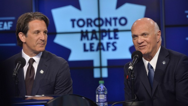 Brendan-Shanahan;-Lou-Lamoriello;-Toronto-Maple-Leafs
