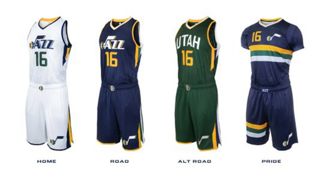 competitive price 0143e 7076c Utah Jazz unveil new jerseys, including sleeved alternate ...