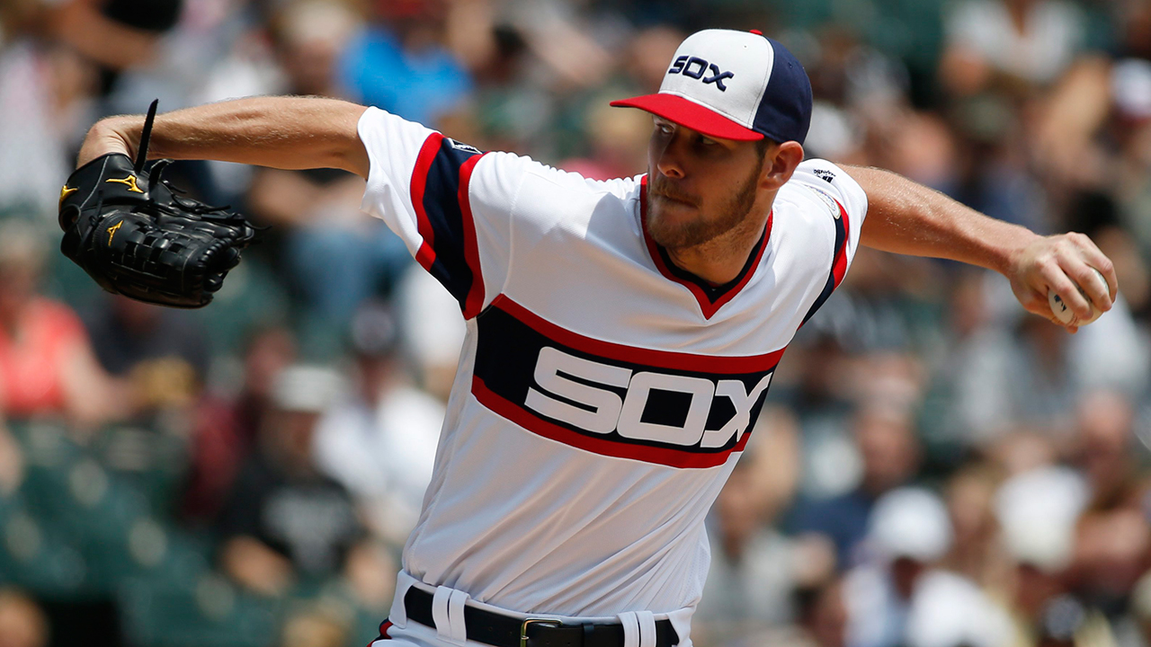 promo code 197c0 93605 Report: Chris Sale cut up White Sox throwback jerseys ...