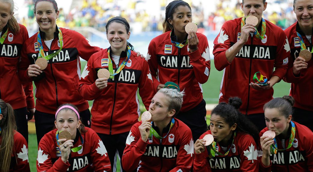Canadian-women's-soccer-team