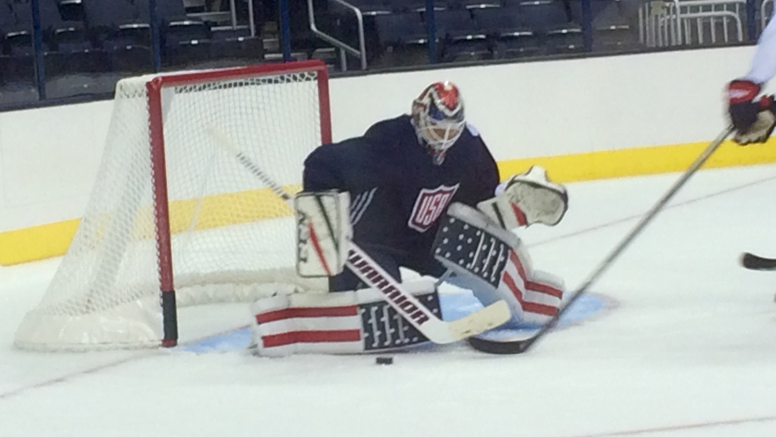 quality design 89543 9673b Cory Schneider breaks in 'creative' World Cup pads ...