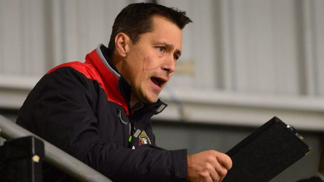 Ottawa-Senators-head-coach-Guy-Boucher-watches-his-team-during-day-two-of-training-camp-in-Ottawa-on-Friday,-Sept.-23,-2016.-Players-who-have-yet-to-catch-the-eye-of-Boucher-are-running-out-of-chances-to-impress-the-new-Ottawa-Senators-head-coach.-(Sean-Kilpatrick/CP)