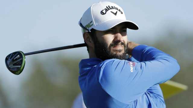 Adam-Hadwin,-of-Canada,-watches-his-tee-shot-on-the-second-hole-of-the-south-course-during-the-first-round-of-the-Farmers-Insurance-Open-golf-tournament-Thursday,-Jan.-26,-2017,-at-Torrey-Pines-Golf-Course-in-San-Diego.-(Gregory-Bull/AP)