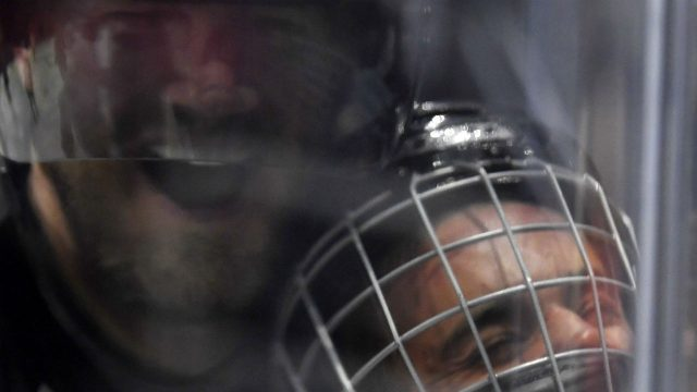 Singer-Justin-Bieber,-who-is-playing-for-Team-Gretzky,-is-pushed-into-the-glass-by-Chris-Pronger-of-Team-Lemieux-during-the-first-period-of-the-NHL-All-Star-Celebrity-Shootout-at-Staples-Center,-Saturday,-Jan.-28,-2017,-in-Los-Angeles.-The-NHL-All-Star-Game-is-scheduled-to-be-played-at-Staples-Center-on-Sunday.-(Mark-J.-Terrill/AP)
