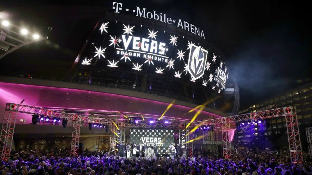 The-team-name-is-displayed-on-a-screen-during-an-event-to-unveil-the-name-of-Las-Vegas'-National-Hockey-League-franchise,-Tuesday,-Nov.-22,-2016,-in-Las-Vegas.-The-team-will-be-called-the-Vegas-Golden-Knights.-(John-Locher/AP)