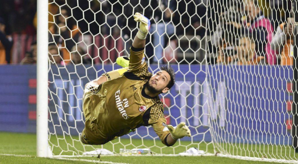 AC-Milan-goalkeeper-Gianluigi-Donnarumma.-(Alexandra-Panagiotidou/AP)
