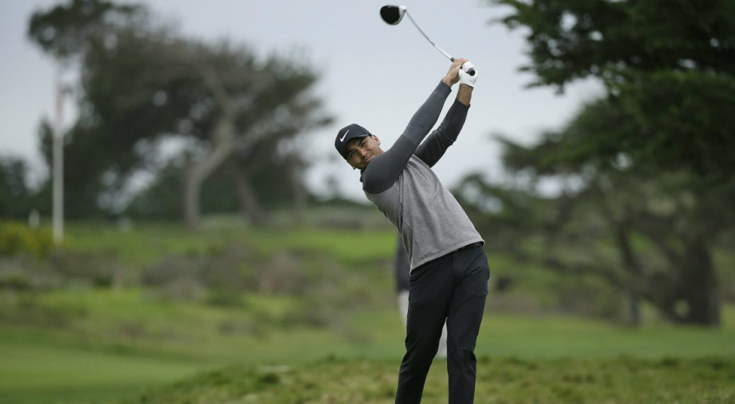 Jason-Day,-of-Australia,-hits-from-the-17th-tee-of-the-Monterey-Peninsula-Country-Club-Shore-Course-during-the-first-round-of-the-AT&T-Pebble-Beach-National-Pro-Am-golf-tournament-Thursday,-Feb.-9,-2017,-in-Pebble-Beach,-Calif.-(Eric-Risberg/AP)