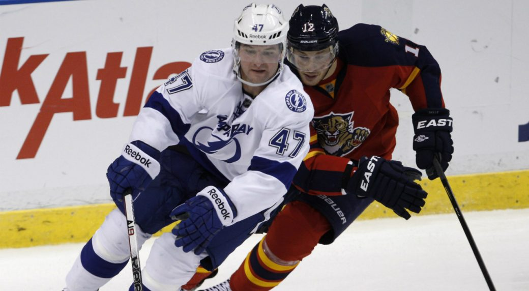 Defenceman-Marc-Andre-Bergeron-(47)-has-signed-with-the-Columbus-Blue-Jackets.-(Lynne-Sladky/AP)