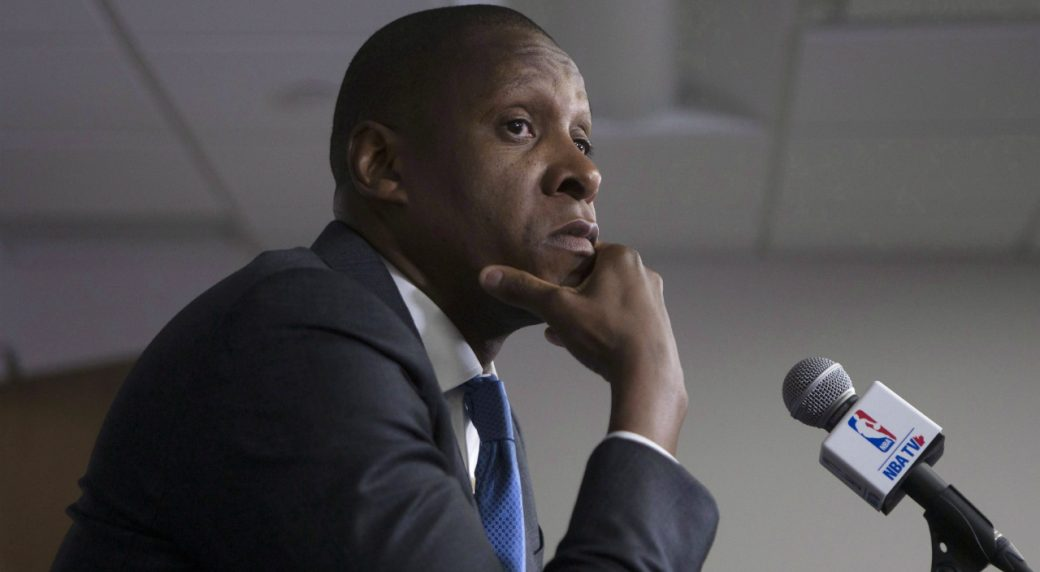 Toronto-Raptors-president-Masai-Ujiri-attends-a-news-conference-during-a-media-day-for-the-team-in-Toronto-on-Monday-September-26,-2016.-(Chris-Young/CP)