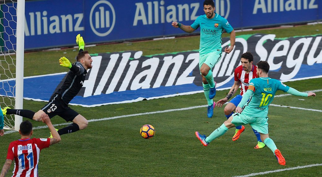 Barcelona top La Liga for now as Messi scores winner vs
