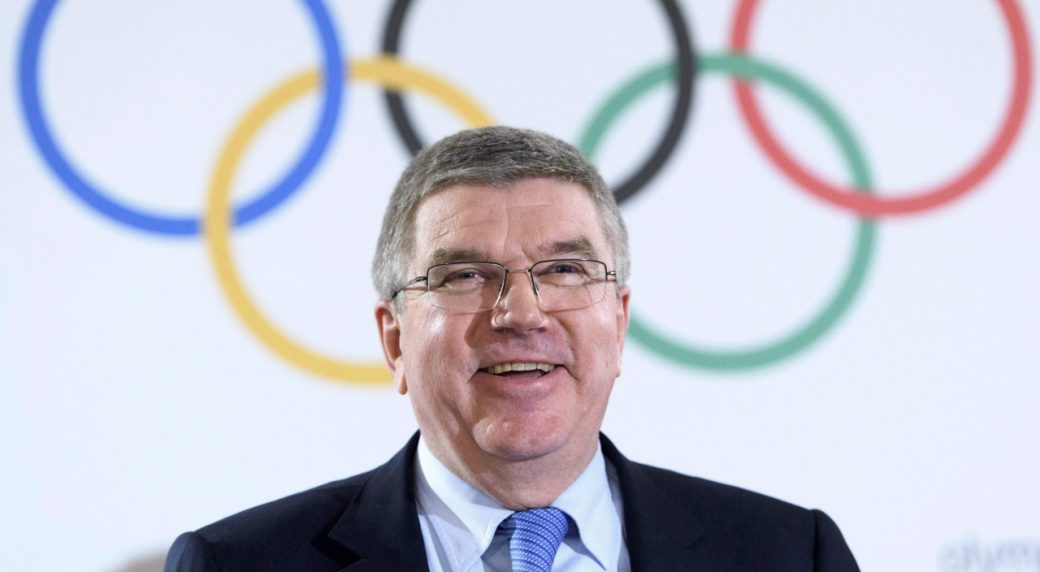 International-Olympic-Committee-President-Thomas-Bach-welcomes-talk-that-two-Summer-Games-hosts-could-be-picked-at-the-same-time-in-September.-(Laurent-Gillieron-Keystone/AP)