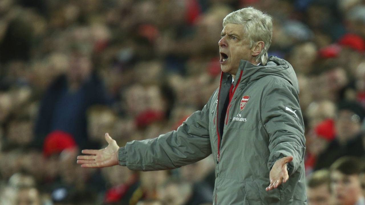 Arsenal's-manager-Arsene-Wenger-reacts-to-a-decision-by-the-referee-during-the-English-Premier-League-soccer-match-between-Liverpool-and-Arsenal-at-Anfield,-in-Liverpool,-England,-Saturday,-March-4,-2017.-Liverpool-won-the-game-3-1.-(Dave-Thompson/AP)