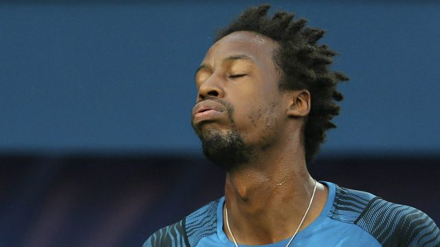 Gael-Monfils-of-France-reacts-in-a-match-against-Daniel-Evans-of-Great-Britain-during-the-Dubai-Tennis-Championships,-in-Dubai,-United-Arab-Emirates,-Wednesday,-March-1,-2017.-(Kamran-Jebreili/AP)