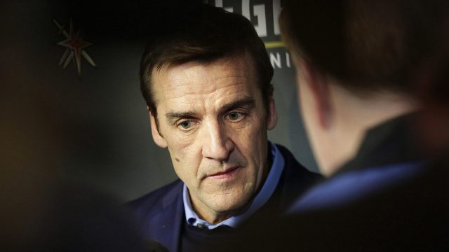Vegas-Golden-Knights-general-manager-George-McPhee-speaks-during-a-news-conference-Wednesday,-March-1,-2017,-in-Las-Vegas.-(John-Locher/AP)